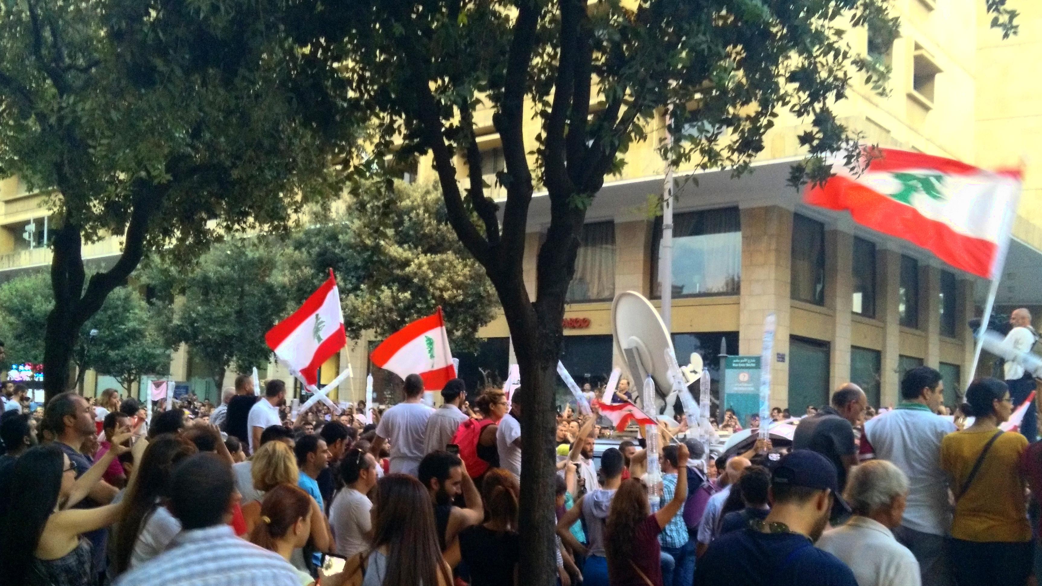 Mielenosoitus Beirutin keskustassa