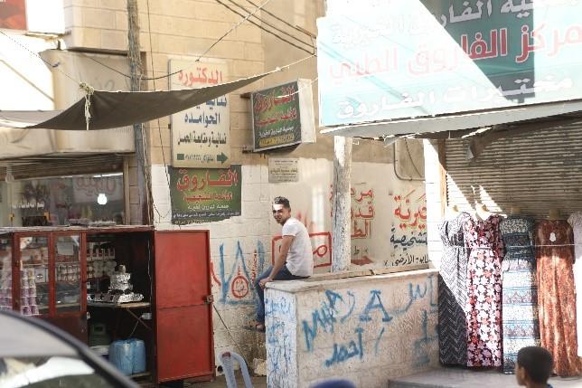 Al-Farouqin kotikatu pakolaisleirillä Kuva Hussein Amri