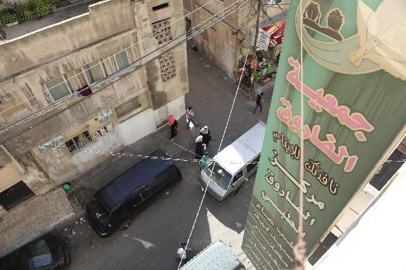 Näkymä kifalaat-osaston ikkunasta kadulle Kuva Hussein Amri