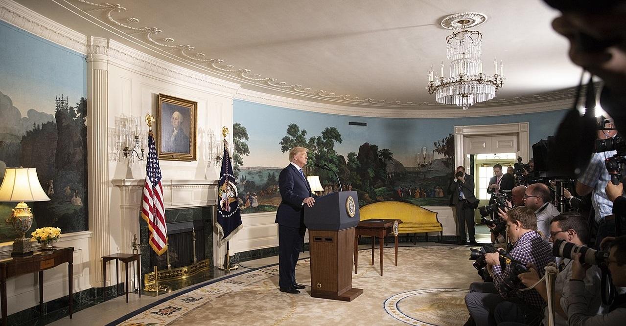 Trump puhuu lehdistölle