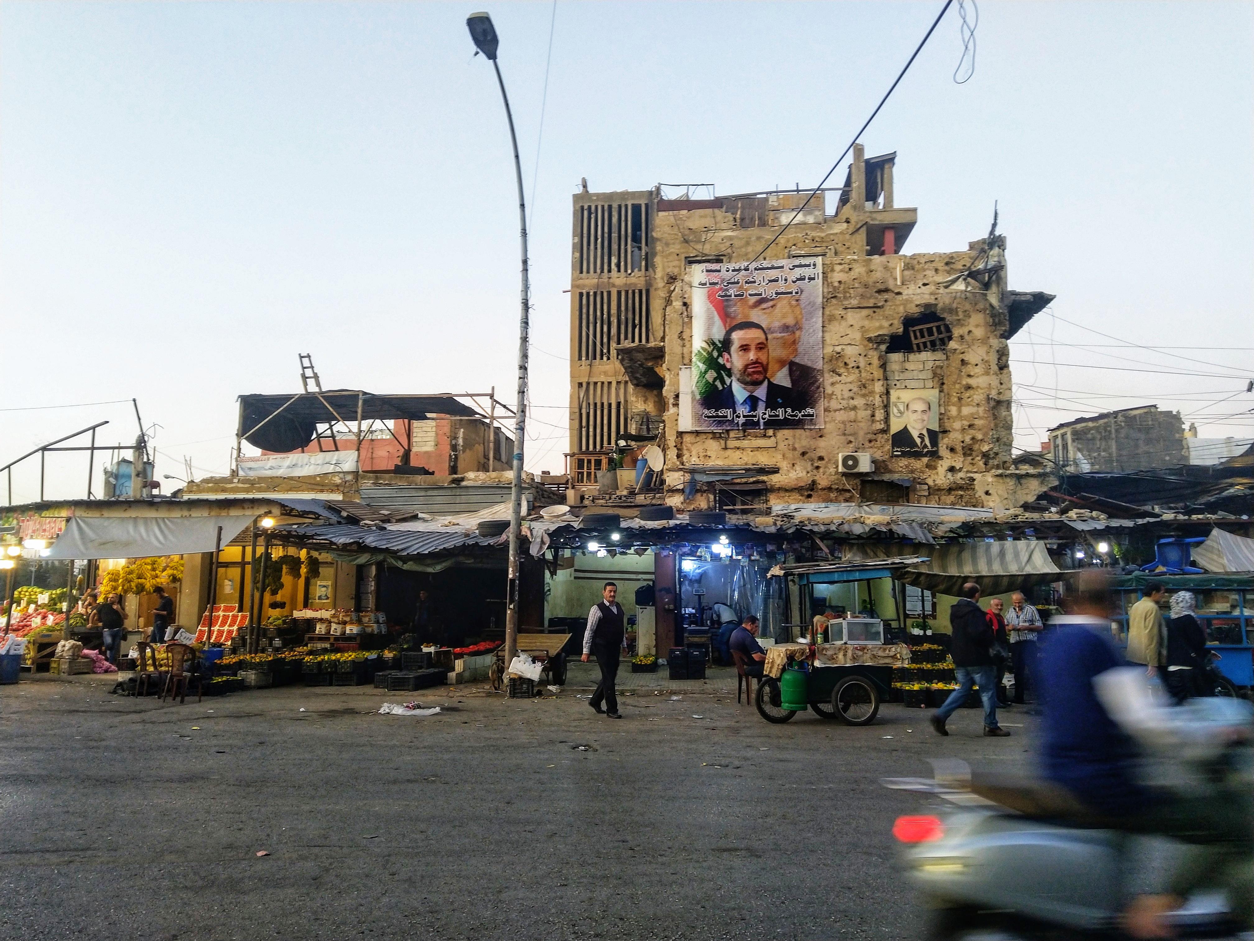 Saad al-haririn kuva Beirutissa