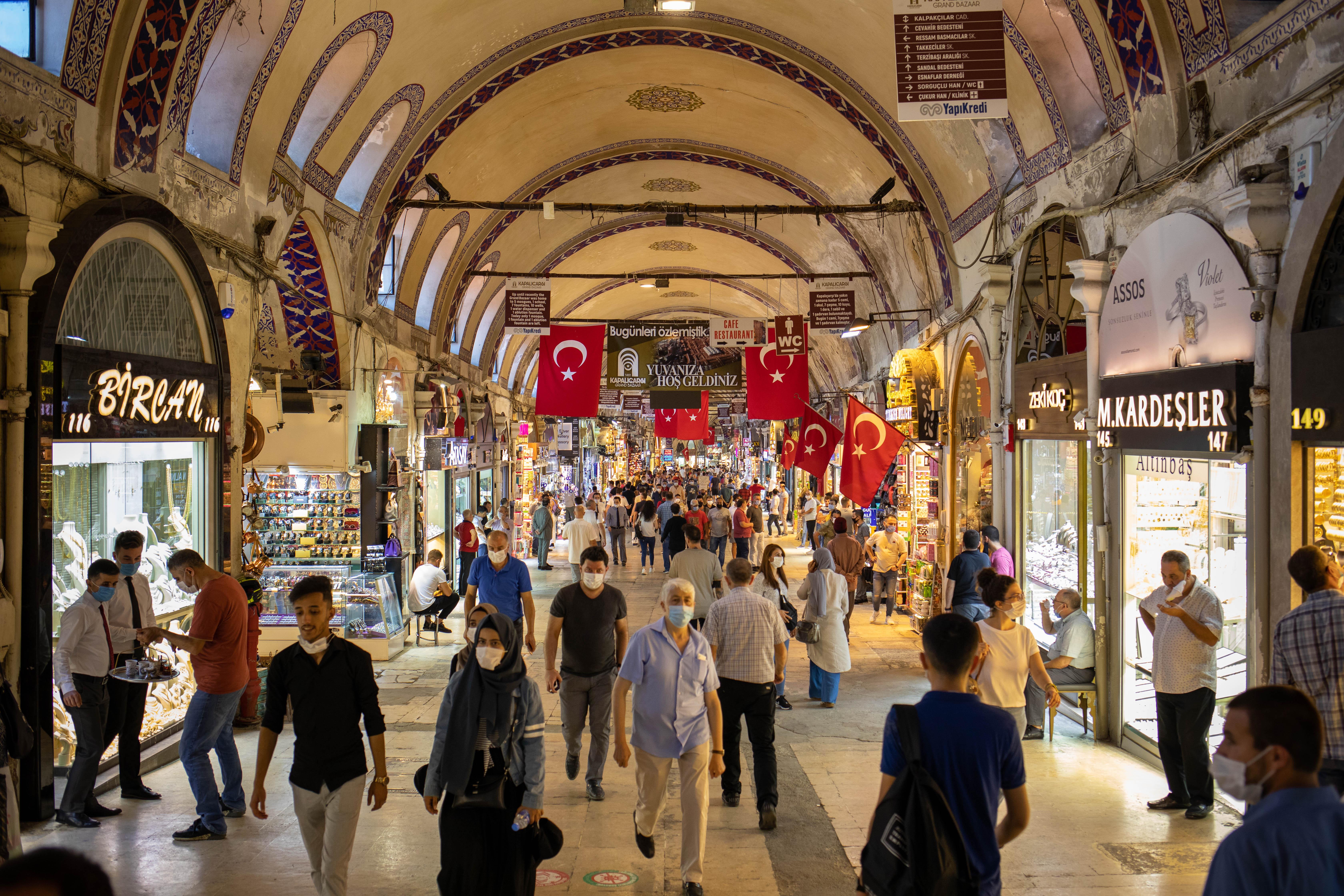 Kapilacarsin basaari Istanbulissa