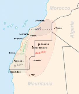 Kartta Länsi-Saharan heimoista