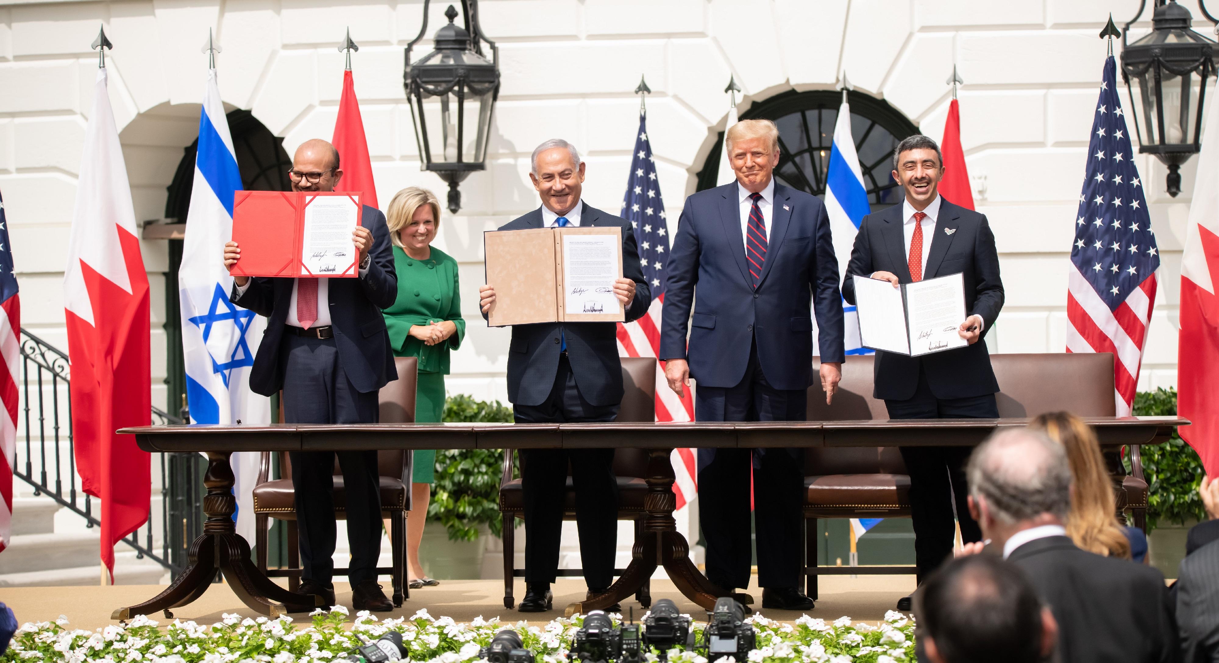 Abraham accords -sopimuksen allekirjoitustilaisuus