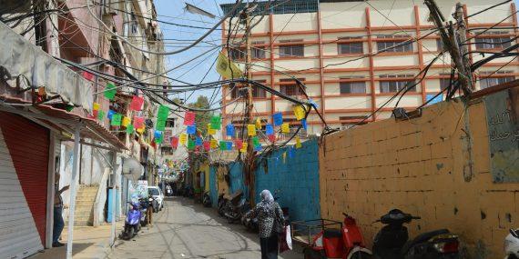 Shatilan palestiinalaisleiri Beirutissa.